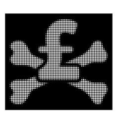 White halftone pound mortal debt icon vector