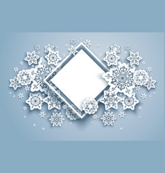 Winter nature frame vector