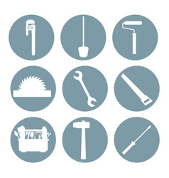 construction tools icons set ilustration vector image