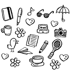 doodle series - random1 vector image