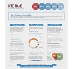 Retro vintage web blue vector