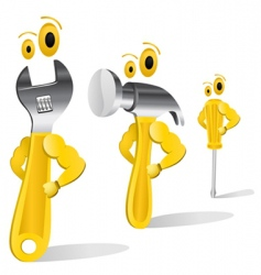 tool characters vector image vector image