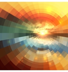 Abstract colorful circle technology mosaic vector image vector image