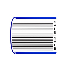Book stylized as barcode vector image