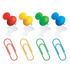 pins and paper clips vector image