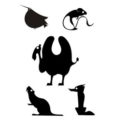Animal icons isolated vector