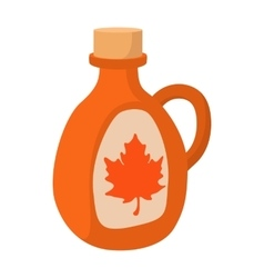 Bottle of maple syrup icon cartoon style vector image vector image