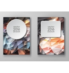 Brochure Multicolored Polygonal Mosaic Backgrounds vector image vector image