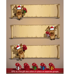 Christmas Elks Papyrus Gifts vector image vector image
