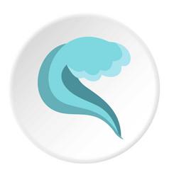 splashing wave icon circle vector image vector image