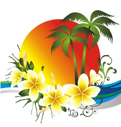 tropical card vector image vector image
