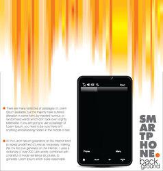 Business brochure smartphone booklet template vector