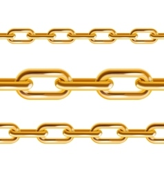 Chain Gold vector image