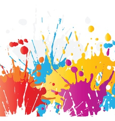 grunge paint splat background vector image vector image