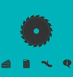 Industrial saw icon flat vector