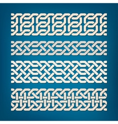 Set of Oriental Pattern Elements vector image vector image