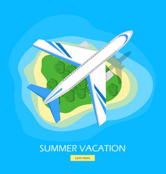 summer vacation flat style web banner vector image vector image