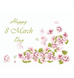 8 march card with flowers vector