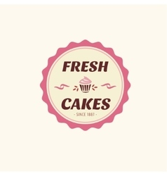 Abstract cake vintage logo element cakes vector