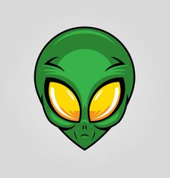 Alien head silhouette design vector