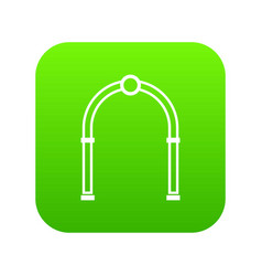 arch icon digital green vector image