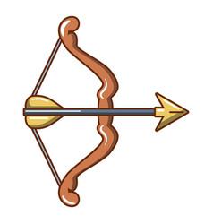 Archery game icon cartoon style vector