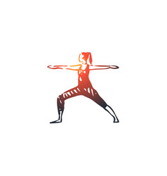 arms human standing woman hand concept hand vector image