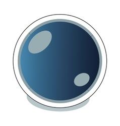Astronaut helmet icon vector