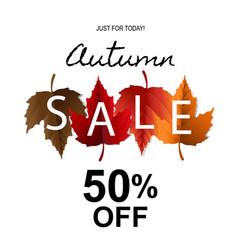 autumn sale banner vector image
