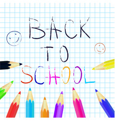 back to school poster education background set vector image