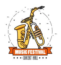 Banner music festival live vector