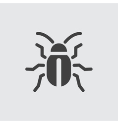 Beetle icon vector