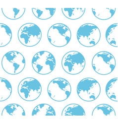 Blue globe earth map background pattern vector