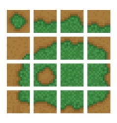 Box game level objects - land bush forest vector