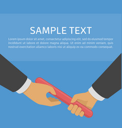 Business relay concept vector