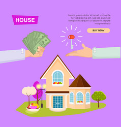 buying house online property selling web banner vector image