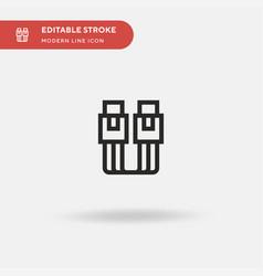 cable simple icon symbol vector image