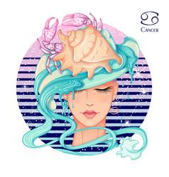 cancer zodiac vector image
