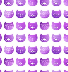 Cats seamless pattern triangle cats Abstract ca vector