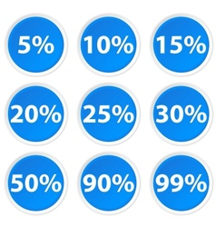 Circle Icons with percent vector image