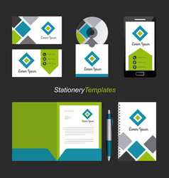 Corporate identity template set business vector