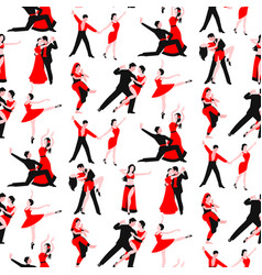 couples dancing latin american romantic person vector image