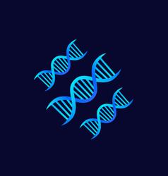 Dna strands genetics icon vector