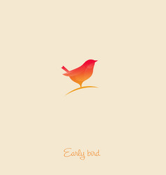 early bird logo vector image