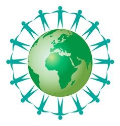 ecology global earth vector image