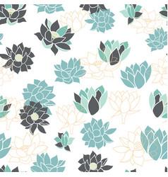 elegant modern waterlilies or lotus flowers vector image
