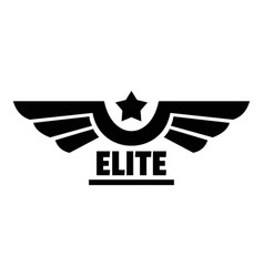 Elite logo simple style vector