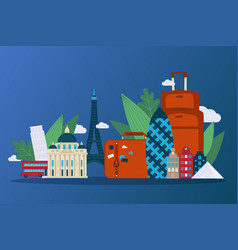 embark on journey through picturesque europe vector image