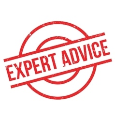 Expert Advice rubber stamp vector image