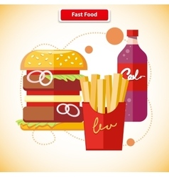 Fast Food Concept vector image